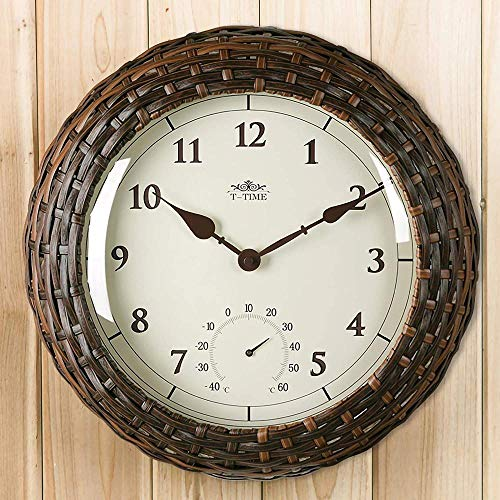 Vintage Retro Clocks 3D Roman Numerals Clock Skeleton Frameless Copper Color Metal Wall Clock for Living Roon Decorative Best Gift 16Inch 16Inch