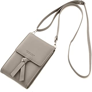 Small Crossbody Bag for Women Leather Cell Phone Purse Wallet With Credit Card Slots