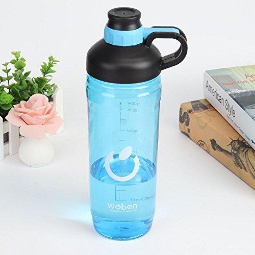 Gourdes d'eau portables en plastique pour le sport Grande contenance de 1500 ml Anti-fuite