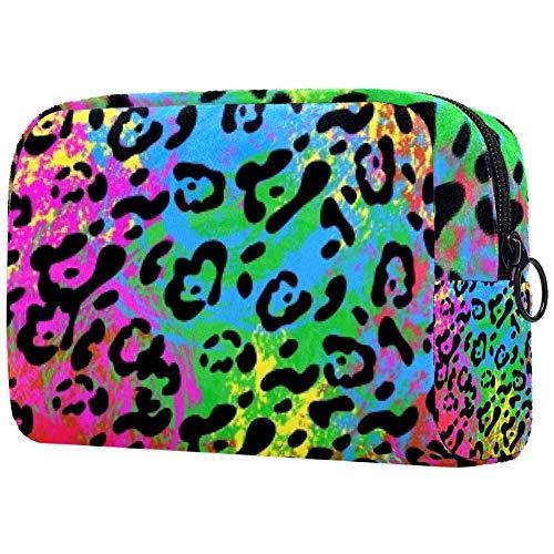 Trousse de toilette portable pour femme - Personnalisable - Sac à main - Organisateur de voyage - Mâts de têtards colorés