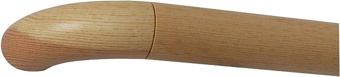 Kiefer Handlauf lackiert /Ø 42 mm mit bearbeiteten Enden ohne Handlaufhalter L/änge 130 cm 1300 mm 1,3 m Endst/ück Halbkugel gefr/äst