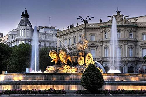 Rompecabezas De 500 Piezas, Fuente De Cibeles En Madrid Para Niños Y Adultos Juego De Juguetes De Madera Educativo