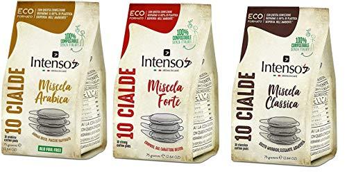 Testpaket Cialde Intenso Classico Forte Arabica Espresso Pads Kaffee 360 kaffeepads 100% italienischer Kaffee Standard ese pods 44mm kompatibel mit allen ese pod espressomaschinen