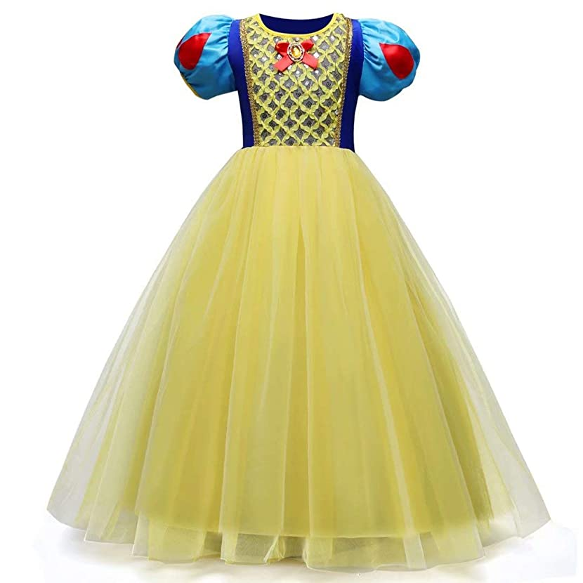 Tsyllyp Baby Girl Snow White Princess Dress Up for Halloween Christmas Costumes