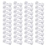 40 Pack Cable Clips, Viaky Strong Adhesive Wire Holder Organizer Durable Cord Management System, for Organizing Cables Home and Office(Transparent Colors)