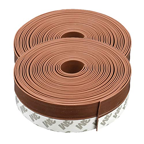 隙間テープ ブラウン 2個セット 6m ドア 窓 すきま 防止 暑さ 寒さ 騒音 臭い 対策 防音 風防止 ホコリ 花粉 防止 2-SUKITAPE-BR