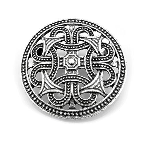 URBANTIMBER Wikinger Fibel Keltische Knoten - Silber