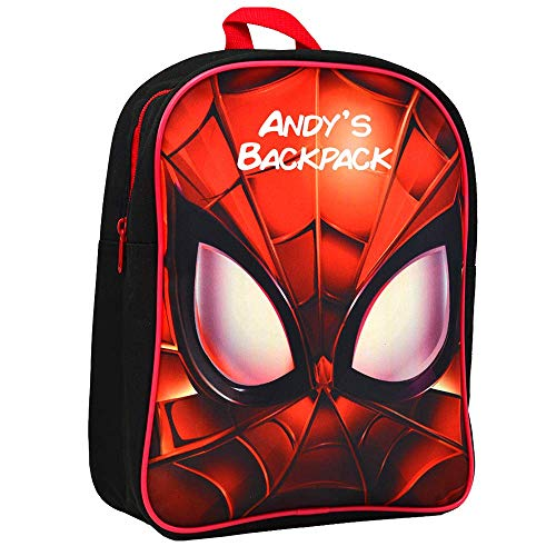Personalised Spiderman Backpack for Boys Rucksack/Eyes Design/Back to School/Toddler/Kids/Fabric Printed/31 x 9 x 25 Centimetre