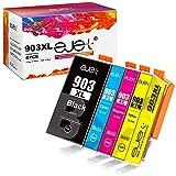 ejet Compatibili Cartucce d'inchiostro Sostituzione per HP 903 903XL per Officejet 6950 Pro 6960 6970 6968 6974 6975 6976 6978 (Nero Ciano Magenta Giallo, 4-Pack)