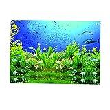 non-brand Etiqueta Engomada Acuario Fondo Etiqueta Fish Tank Pared Decoración Pintura Colorido - XXL