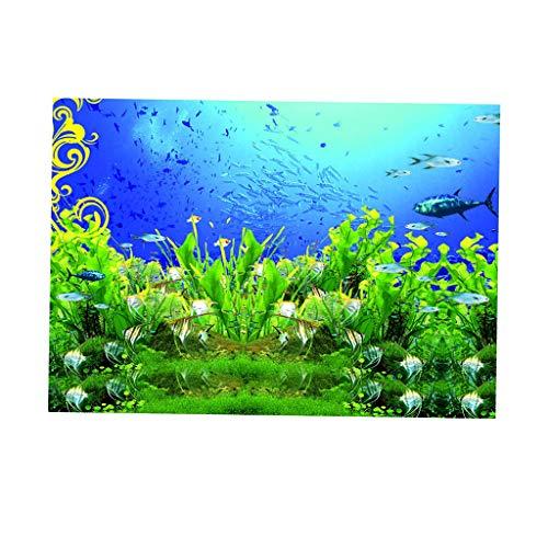 Baoblaze Aquarium 3D Digitaldruck Einseitig Selbstklebender PVC Hintergrund Dekorativ - XL