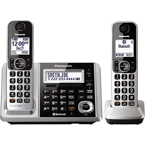 Panasonic KX-TGF372S DECT 2-Handset Landline Telephone (Renewed)