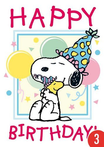 3er-Pack: Postkarte A6 +++ SNOOPY/PEANUTS von modern times +++ HAPPY BIRTHDAY - SNOOPY AND WOODSTOCK +++ CLOSE UP © UNITED FEATURE SYNDICATE, INC