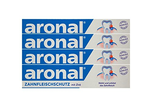 4x aronal Zahnpasta 75ml Zahnfleischschutz mit Zink PZN: 9431782 elmex Forschung