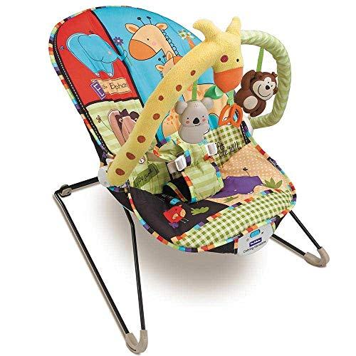 Dondolo Sdraietta Per Neonati Vibrante Fitch Baby Dondolino Altalena con Seduta in Tessuto Giocattoli Pendenti musicale