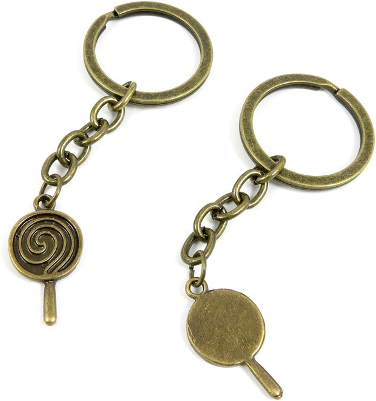 80 PCS Keyring Car Door Key Ring Tag Chain Keychain Wholesale Suppliers Charms Handmade B4XI2 Lollipop
