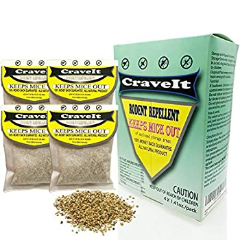 Rodent Repellent Sachet  Speedily Repelling Pest Away from Car Kitchen RV  Non-Lethal  Take Effect by Releasing Scent for Up to 30 Days  Friendly Safe for Humans and Pets  4 Pouches