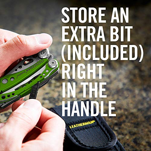 Product Image 1: LEATHERMAN, Skeletool Lightweight Multitool with Combo Knife and Bottle Opener, Moss Green