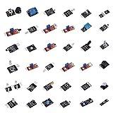 Liyong Módulo De Sensor, Kit De Módulo De Sensor Profesional 37 En 1 Conjunto De Módulo De Sensor Mejorado para El Hogar Inteligente para/Education