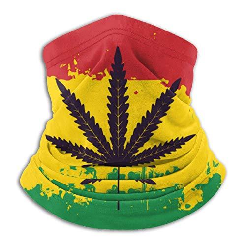 NCH UWDF Weed Cannabis Rasta Flag Scaldacollo Ghetta Passamontagna Copertura da sci Copertura per il viso per il freddo Cappelli invernali Copricapo per uomo Donna Nero