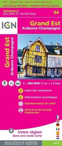 Grand Est (Ardennes-Champagne) Recto/verso 1:250 000