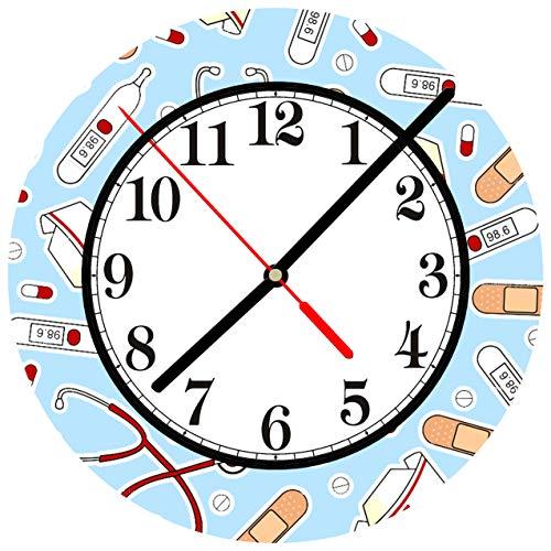 Tr73ans Reloj de pared, Enfermera #a Enfermería Médica RN LPN Atención médica de salud