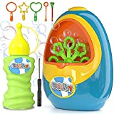 BubToy Bubble Machine for Kids - Automatic Bubble Blower 5000+ Bubbles Per Minute, High Output Bubble Maker Toys Bubbles for Toddlers, Christmas Birthday Gifts for 2 3 4 5 6 7 8 Years Old Boys Girls