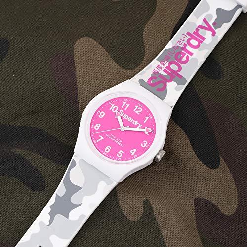 Superdry Damen Analog Quarz Uhr mit Silicone Armband SYG164EP