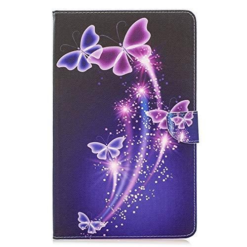 Funluna Funda para Samsung Galaxy Tab A 10.1 2019, Lightweight Soporte Protectora Plegable Cover Suave Trasera Magnetic Cartera Carcasa para Samsung Tab A 10,1 SM-T510/T515, Corazones Rosa
