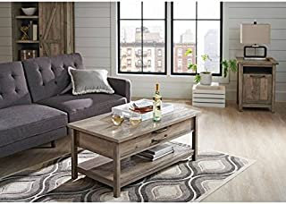 Better Homes and Gardens Modern Farmhouse Top Lifts up and Forward Coffee Table, Rustic Gray Finish (Table, Rustic Gray)