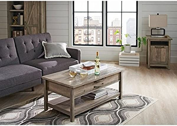 Better Homes And Gardens Modern Farmhouse Top Lifts Up And Forward Coffee Table Rustic Gray Finish