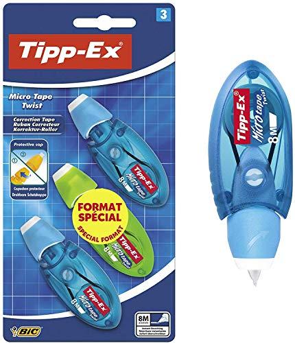 Tipp-Ex Micro – Cinta correctora, colores surtidos (3 unidades)