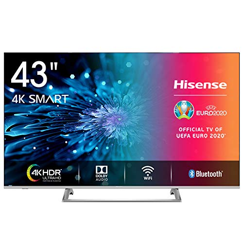 Hisense H43BE7400 Smart TV LED Ultra HD 4K 43'/110 cm, Dolby Vision HDR, Wide Colour Gamut, Unibody Design,Tuner DVB-T2/S2 HEVC Main10 [Esclusiva Amazon - 2019]
