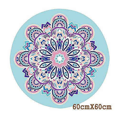 Non-Slip Printed Ronde Yoga Mat, Rubber Meditatie Yoga Kussen met draagtas praktische, Floor Pad, Gymnastiek mat (600 * 600 * 1mm),C