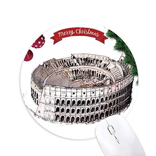 Das Kolosseum in Rom Italien Rundgummi Pad Weihnachtsbaum Mat