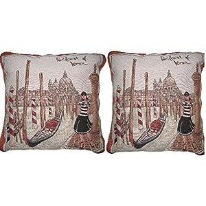 DaDa - Juego de 2 fundas de cojín de acento para ropa de cama, elegantes, únicas, multicolor, diseño de decoración del… | DeHippies.com