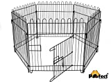 Pawwfect® Foldable Heavy Duty Pet Play Pen 24 inch with Door (6 Panels) (Suitable for Puppies, Small Breed Dogs, Guinea Pigs and Kittens)