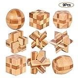 YGZN 9 Pezzi Rompicapo Puzzle Giocattoli di Legno - 3D Puzzle di Legno - Gioco di Puzzle d...