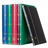 Leuchtturm 324812, Classificatore DIN A4, 32 pagine bianche, con copertina non imbottita, nero