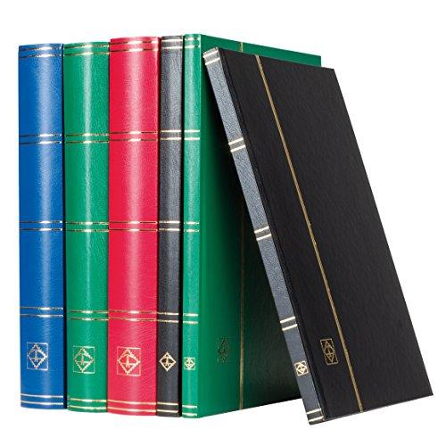 Leuchtturm Briefmarken-Sammel-Album, Einsteckbuch Basic, DIN A4, 32 weiße Seiten, unwattierter Einband, schwarz