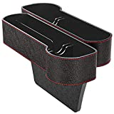 Car Seat Gap Organiser Side Gap Pocket PU Leather Car Tidy Organiser Front Seat Catcher Storage with Coin &...