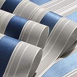 libby-nice Blau gestreifte Baby Jungen Schlafzimmer Dekor Tapetenrolle Selbstklebende Kinderzimmer Peel and Stick Tapetenstreifen