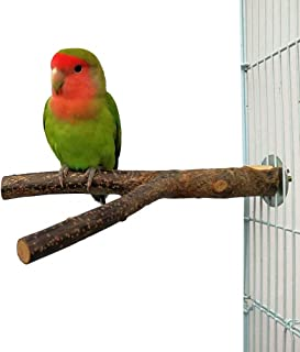 SOLDOUT™ Natural Wood Parrot Bird Fork Stand Perch Y Shape Stand Wooden Branches Birdcage Stands Paw Grinding Toy