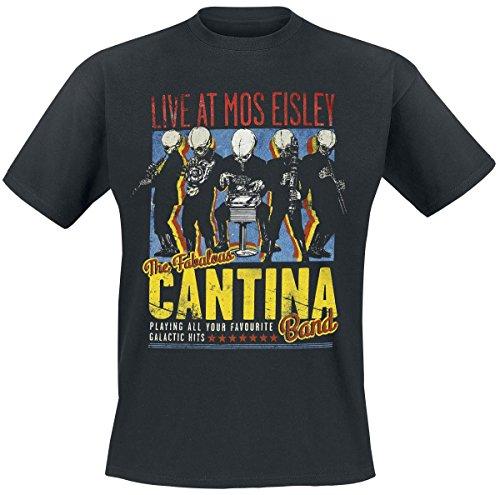 Bravado Star Wars-The Fabulous Cantina Band T-Shirt, Nero, Medium Uomo