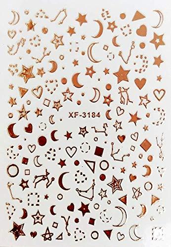 ZJIUYE Autocollant d'ongle Fleur 3D Nail Autocollant Lune Transparente DIY Autocollant Stickers Conseils Conception De Manucure Adhésif Conseils Art pour Nail A