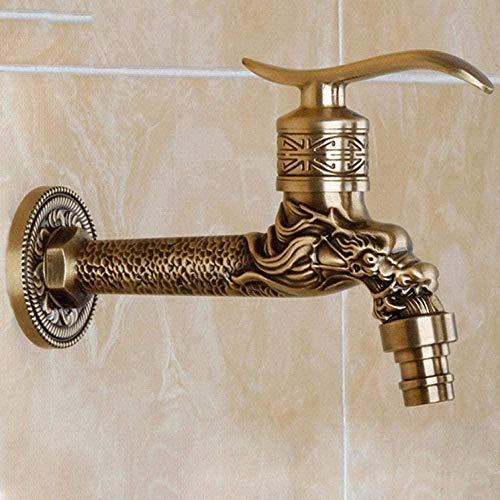 Gartenhahn Wasserhahn Antike Bronze Drachen Geschnitzte Hahn Tierform Hahn Garten Bibcock Waschmaschine Wasserhahn Im Freien Hahn Für Garten