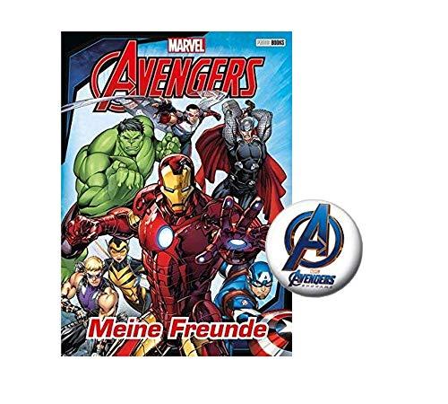 Panini Verlag Marvel Avengers Freundebuch für Jungs: Meine Freunde + 1 Marvel Button