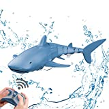 Remote Control Shark Toy 2.4GHz Remote Control Simulation Shark Boat Large Capacity 500mAh Rechargeable Electric Toy Great Gift RC Boat Toys JIERUI CREATION (Shark)