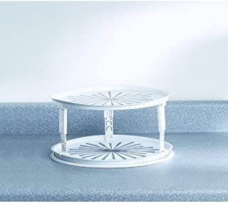 Rubbermaid 2937RDWHT Lazy Susan Twin Turntable,WHITE