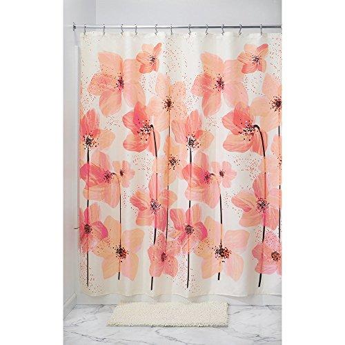 iDesign Blossom Floral Fabric Bathroom Shower Curtain - 72
